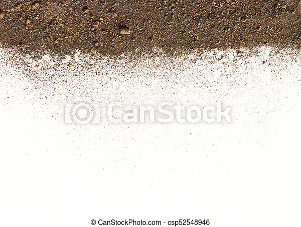Pile of soil on white background - csp52548946