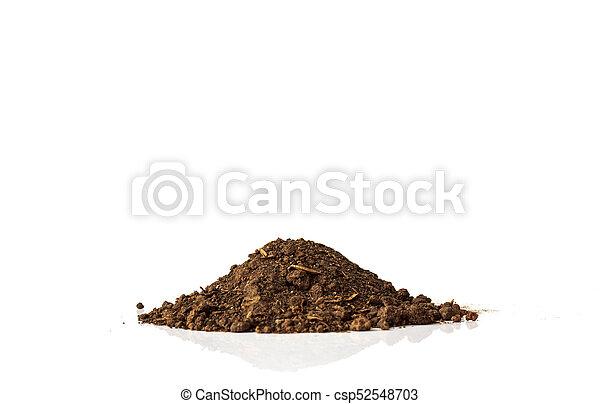 Pile of soil on white background - csp52548703