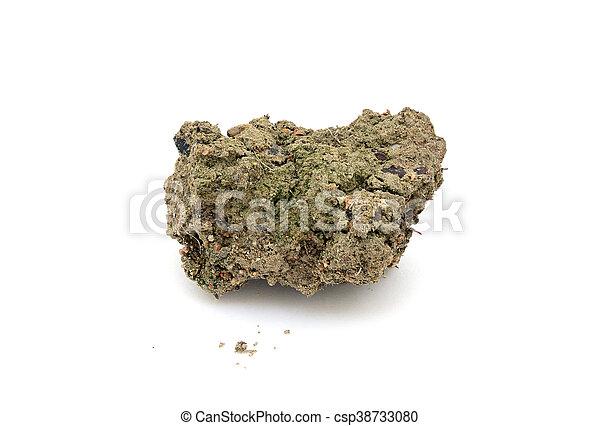 Pile of soil on white - csp38733080