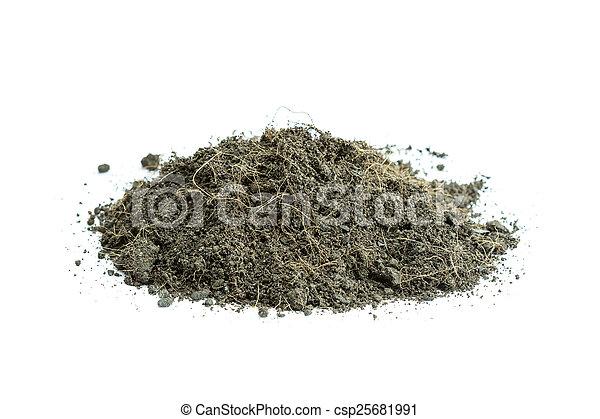 Pile of soil - csp25681991