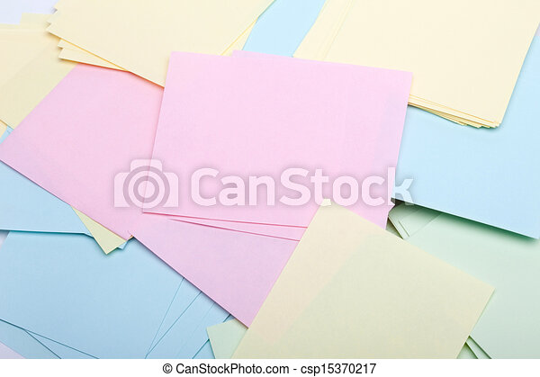 Pile of sticky notes - csp15370217