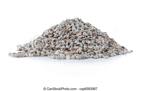 pile of stone over white background - csp6583987