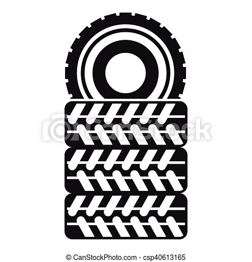 pile of tires icon simple style pile of tires icon in clip art rh canstockphoto ie tired clip art emotions tire clipart images