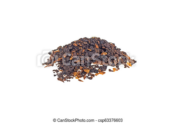 pile of tobacco isolated on white background - csp63376603