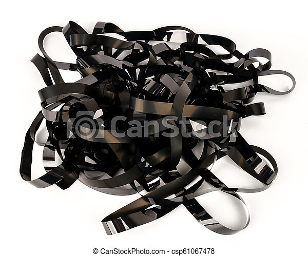 Pile of video tape - csp61067478