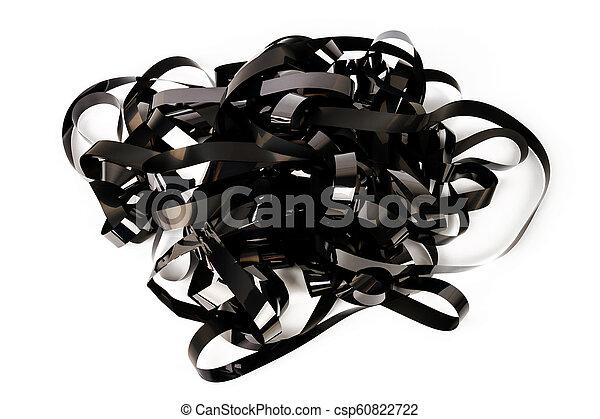 Pile of video tape - csp60822722