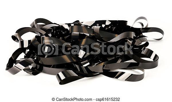 Pile of video tape - csp61615232
