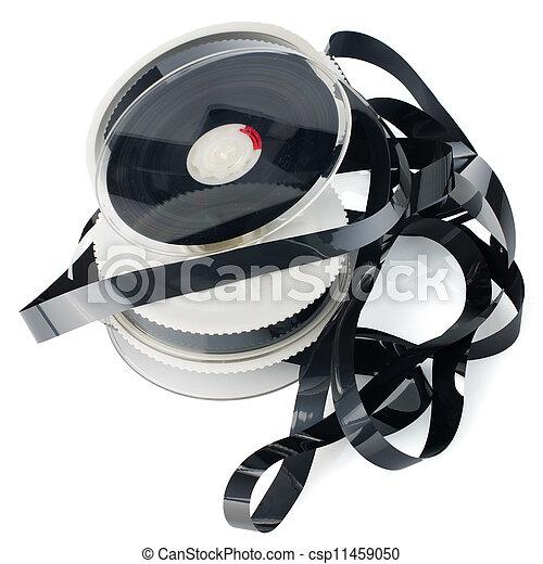 Pile of videotape reels - csp11459050