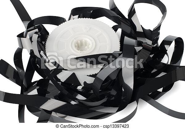 Pile of videotape reels - csp13397423