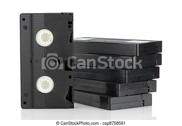 Pile of videotapes - csp8758591