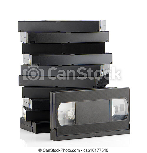 Pile of videotapes - csp10177540
