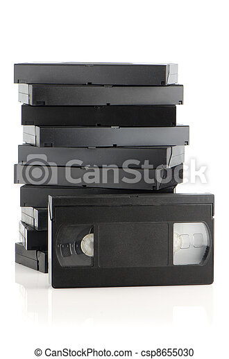Pile of videotapes - csp8655030