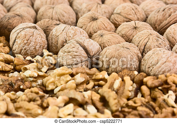 pile of walnuts - csp5222771