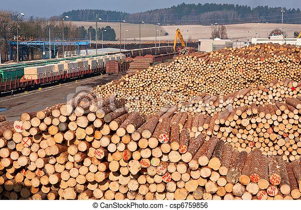 Pile of wood - csp6759856