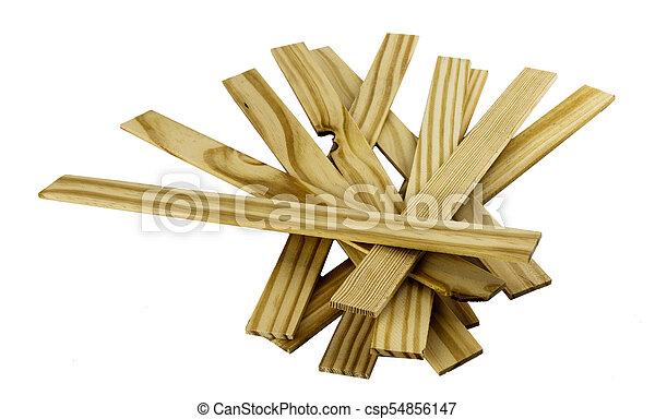 Pile Of Wooden Paint Stir Sticks