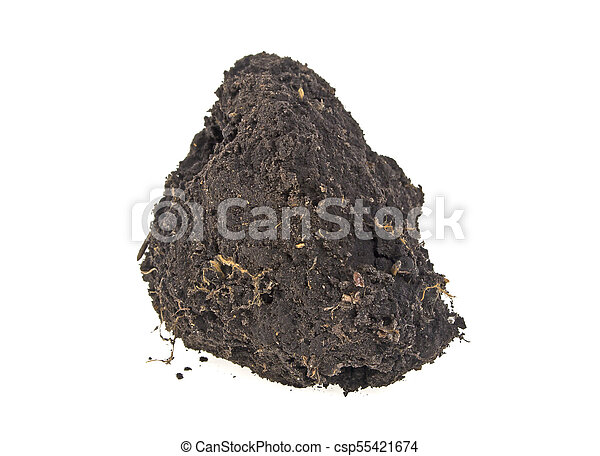 Pile soil isolated on white background - csp55421674