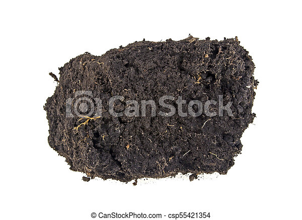 Pile soil isolated on white background - csp55421354