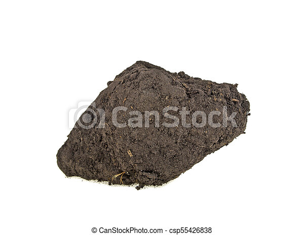 Pile soil isolated on white background - csp55426838