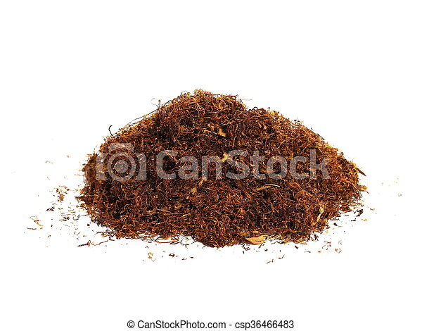 pile tobacco isolated on white - csp36466483