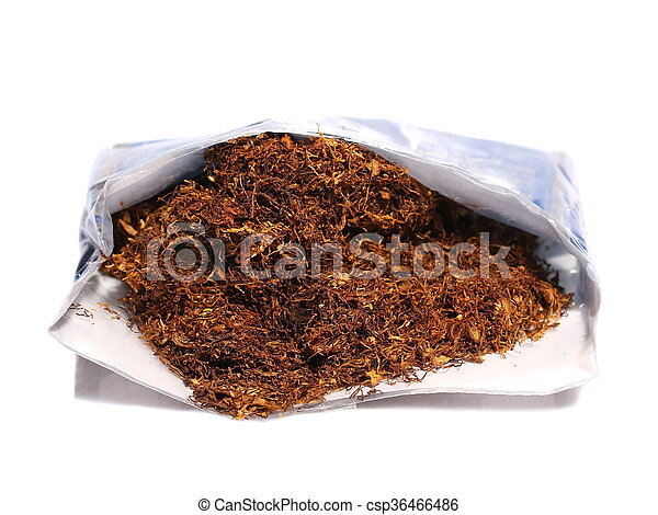 pile tobacco isolated on white - csp36466486