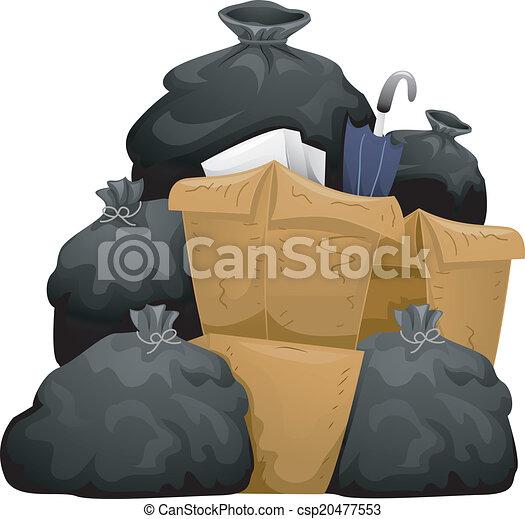 Piles of Garbage - csp20477553