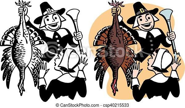Pilgrim with Turkey - csp40215533