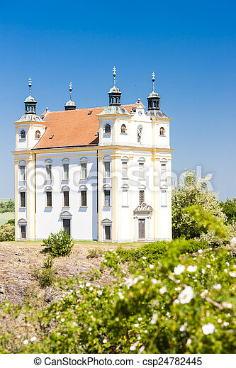 pilgrimage chapel of Saint Florian, Moravsky Krumlov, Czech Repu - csp24782445