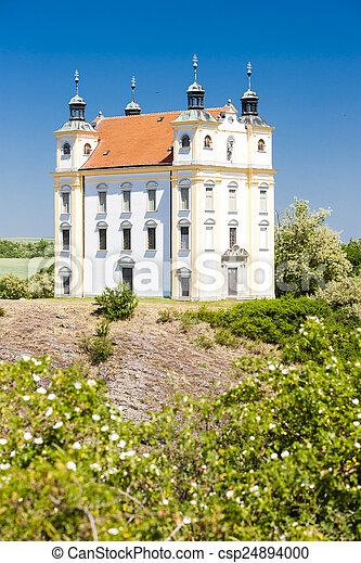 pilgrimage chapel of Saint Florian, Moravsky Krumlov, Czech Repu - csp24894000