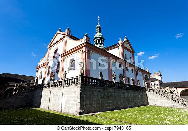 pilgrimage church in Svata Hora near Pribram, Czech Republic - csp17943165