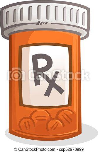 pill bottle illustration a plastic orange pill bottle full of rh canstockphoto com Pill Bottle Cartoon pill bottle clipart free