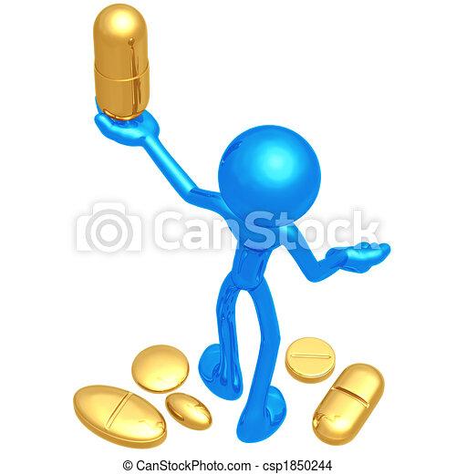 Pill Presenter - csp1850244