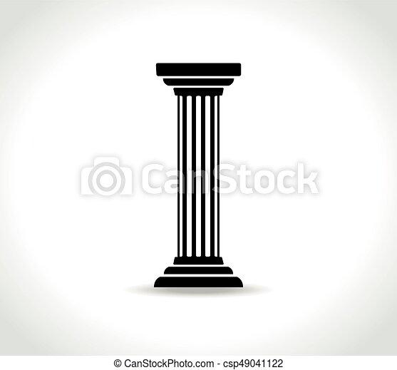 pillar on white background - csp49041122