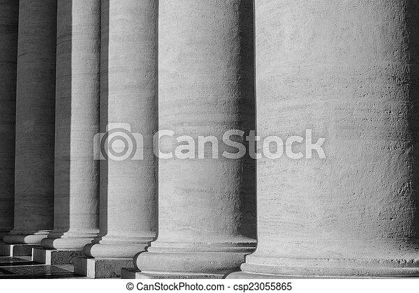 Pillars at the Vatican - csp23055865