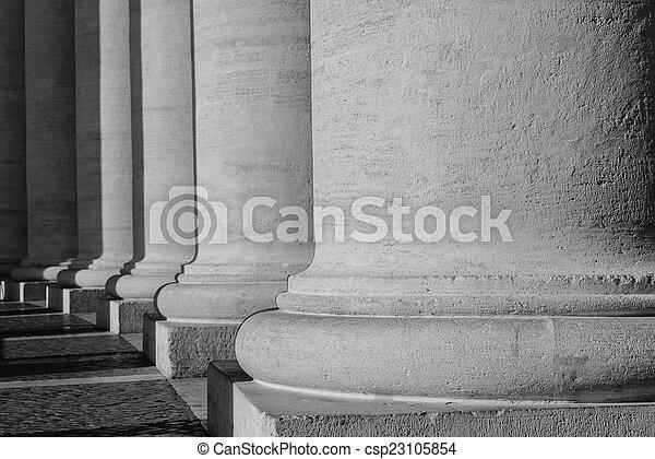 Pillars at the Vatican - csp23105854