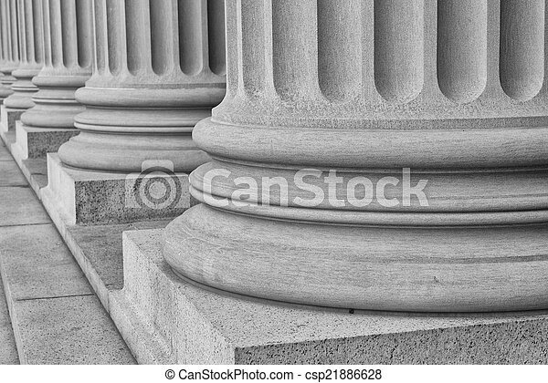 Pillars in Black and White - csp21886628