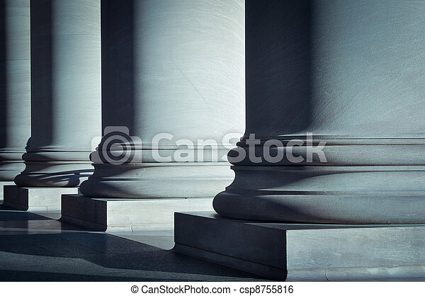 Pillars of Law and Education - csp8755816