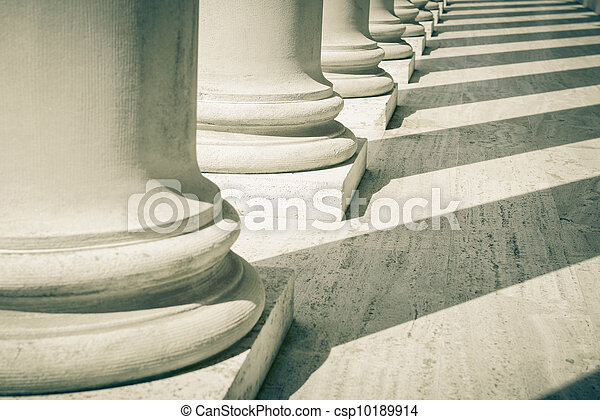 Pillars of Law and Justice - csp10189914
