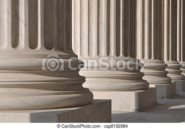 Pillars of Law and Justice - csp8192984