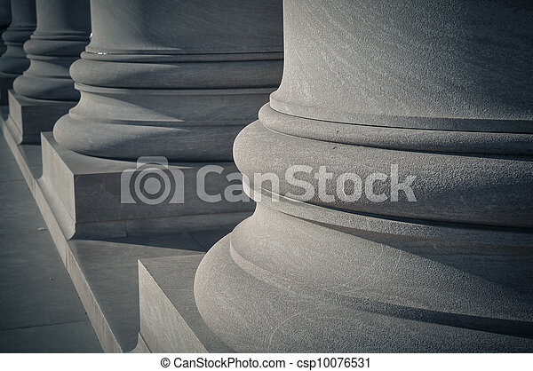 Pillars of Law and Order - csp10076531