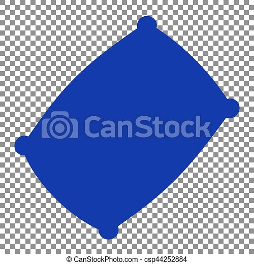 pillow clipart no background. pillow sign illustration. blue icon on transparent background. - csp44252884 clipart no background d