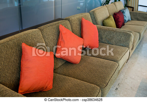 Fabulous Pillows On The Brown Sofa In Hotel Alphanode Cool Chair Designs And Ideas Alphanodeonline