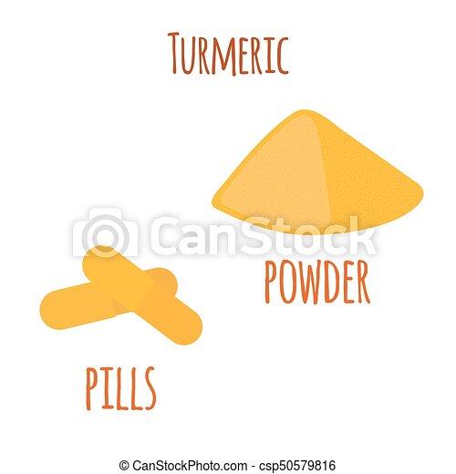 Pills 根 スパイス に薄く切る イラスト 粉 ベクトル 有機体である