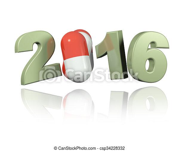 Pills 2016 design - csp34228332