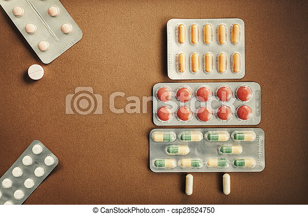 Pills And Tablets Abstract - csp28524750