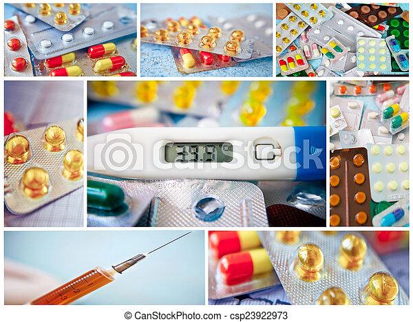 Pills collage - csp23922973