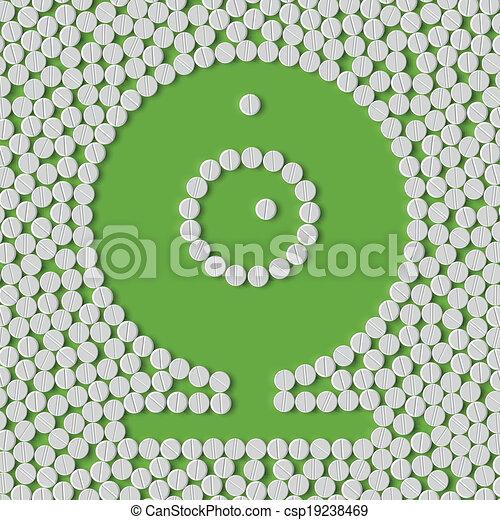 pills concept, webcam, camera - csp19238469