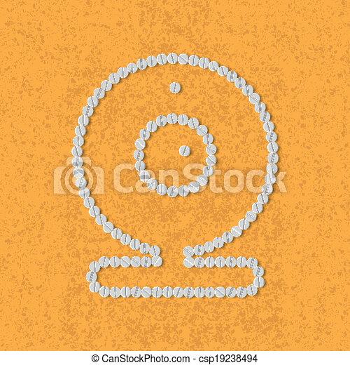 pills concept, webcam, camera - csp19238494