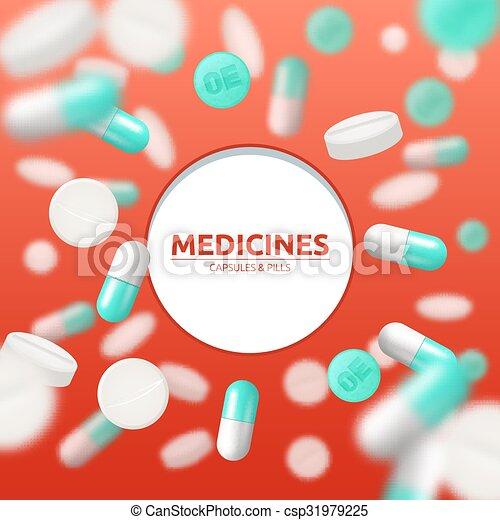 Pills Medical Illustration - csp31979225