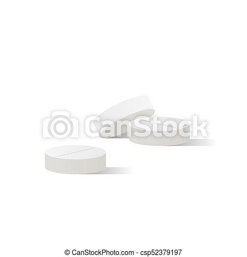 Pills medicine illustration vector on white background. Medical concept. - csp52379197