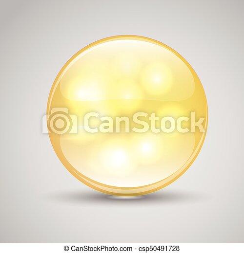 Pills of vitamin A. Collagen Serum and Vitamin. - csp50491728
